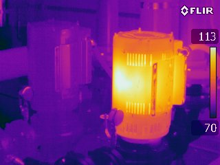 Motor - FLIR T440 Infrared Image